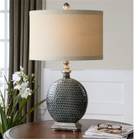 Salinger Slate Grey upscale Ceramic Table Lamp
