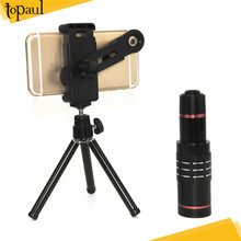2017 Mobile Phone aluminium camera zoom 18X telescope lens telephoto external camera lens for Iphone smartphone