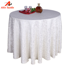 Modern design round printed tablecloth
