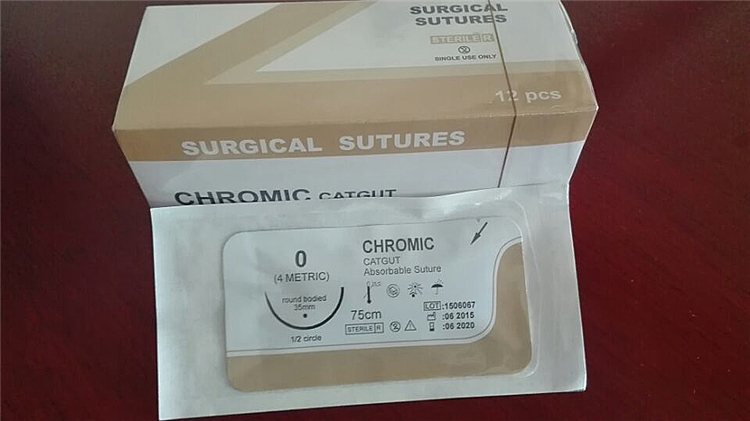 chromic catgut absorbable surgical suture with needle,care medical collagen skin lifting suture made in China