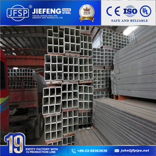 Hot dip galvanized square steel tube / ERW HDG conduit pipe with low price in Tianjin