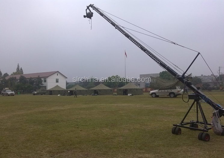 Triangle Electronic control 2 Axis Jimmy Camera Crane Jib with Motorized Pan Tilt Head