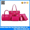 V design PU 6pcs in 1 bags set women handbag