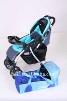 Blue Baby Stroller With Carrier