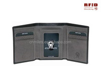 ID Theft Prevention Leather Wallet 100% Trifold RFID Signal Blocker Lock wallet