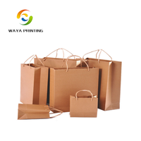 Print Logo Bread Packaging Brown Kraft