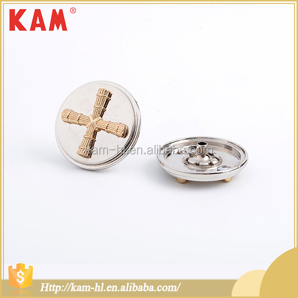 Latest kam dress designs gold decorative snap fasteners