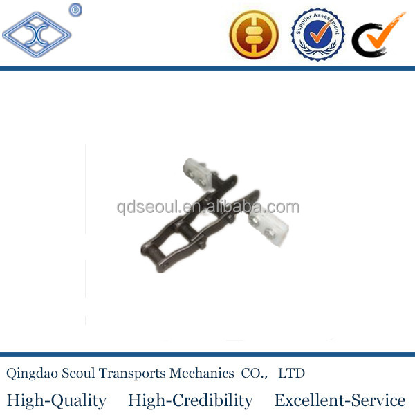 A1 attachments JIS standard welded type carbon steel 40Mn steel cranked link W110 industrial chains