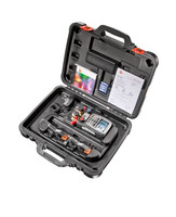 Testo 570-2 set digital 4-way digital manifold gauge, testo 570-2 set digital manifold with 2-clamp temperature sensor, USB,PC