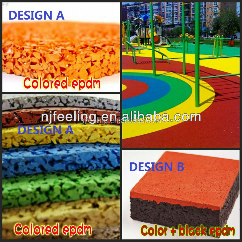 Rubber Tiles Outdoor Playground, Playground Rubber Floor, Rubber Flooring For Play Areas And Kindergarten -FN-D150532