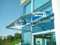 Outdoor Steel Frame Glass Canopy Design