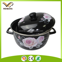 High quality cookware mirror face porcelain enamel cookware