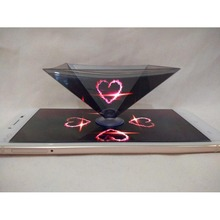 Holographic viewer Display 3D Pyramid Display Phone Hologram 3D holographic projection