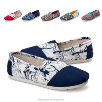 Fashion All star Canvas Shoe Women Printed Flat Casual Canvas Shoes
