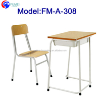 Used wood desk top school desk with chair FM-A-308