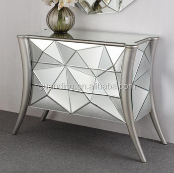Antique Beveled silver modern mirror furniture hobby lobby mirrored console table