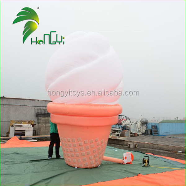 Customized Inflatable Ice Cream Model for Shop Advertising