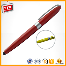 New products 2016 customized screen touch pen with stylus touch pen logo metal pen with clip