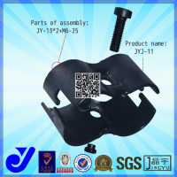 JYJ-11|Pipe clamp fitting|Black metal joint for round tube
