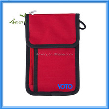Passport Holder by YOMO, Classy Neck Stash RFID Wallet, High Class Design for Travellers Who Care about Looks! Strong Zipper Poc