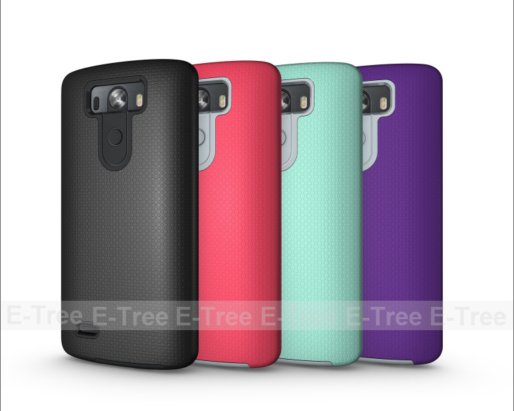 Skidproof Hybrid PC TPU 2 in 1 Rugged Phone Case For LG G3