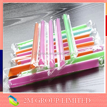 Long and wide hard plastic drinking straw