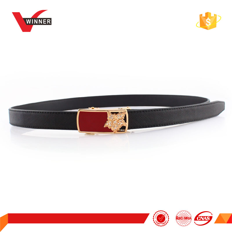 Auto buckle Women High Quality Leather Golf Belt