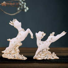 Life size deer statues resin craft christmas decorative window design wedding favor gift souvenirs