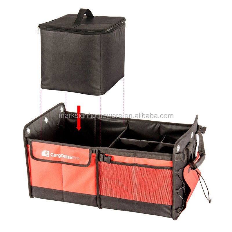 Adjustable Compartment Premium Quality Car Trunk Organizer with Cooler Bag