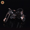WR 2016 Small Motorcycle Metal Fashion Craft Pen Holder Barrel Container Office School Supplies Home Decor Birthday Wedding Gift
