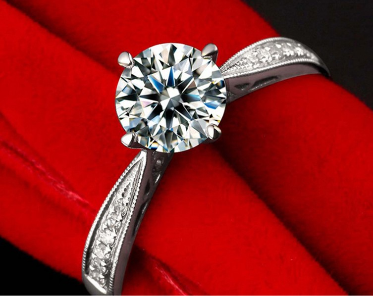 Gemnel jewelry wholesale engagement and wedding ring set diamond ring right hand ring