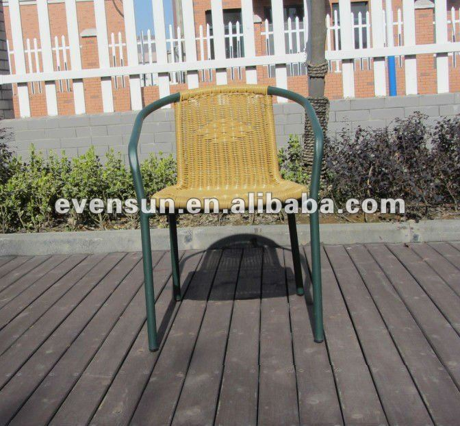 outdoor resin stacking steel chair