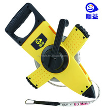 Chinese Factory double graduated measuring flexible high accuracy retractable fiberglass tape measure 6mm