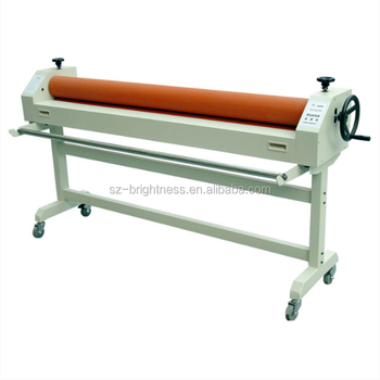 2016 hot sale cold paper manual laminating film roll machine price