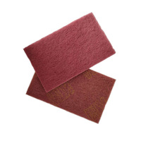 "3M 7447C 6""*9"" rectangular Heavy Duty Red Scouring Pads For Industrial"