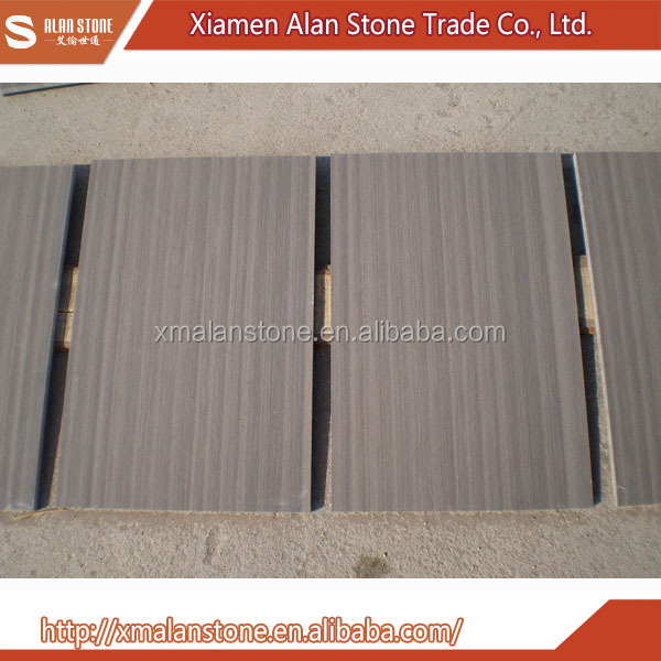 Wholesale China Trade Purple Wooden Vein Sandstone Marble Flooring Design