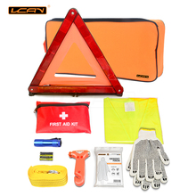 VCAN Hot Selling and CE certified Automobile Roadside Emergency Safety Kit with booster cable Car Accessories Emergency Kit