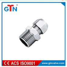 High quality brass male nipple thread fitting with chrome plated