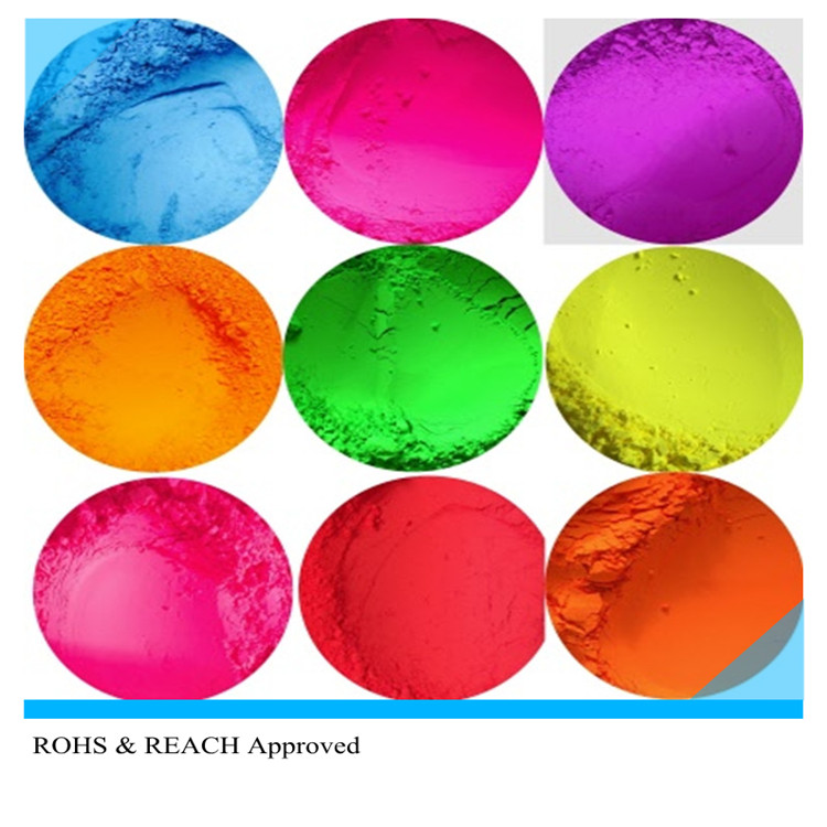 Fluorescent phosphor nail makeup powder