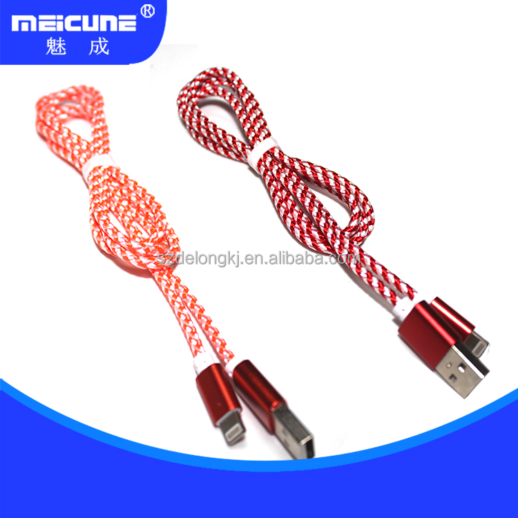 Low Price Nylon Braided Cable Mobile Phone Accessories