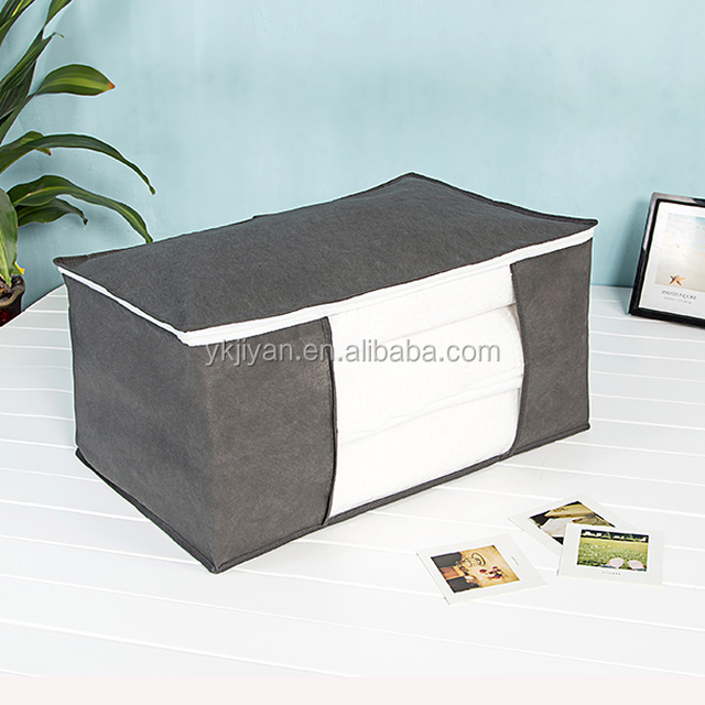 Dust-proof Quilt Blanket & Clothes Organization Fexible Storage Bag Tole Transparent window Multi Color Optional