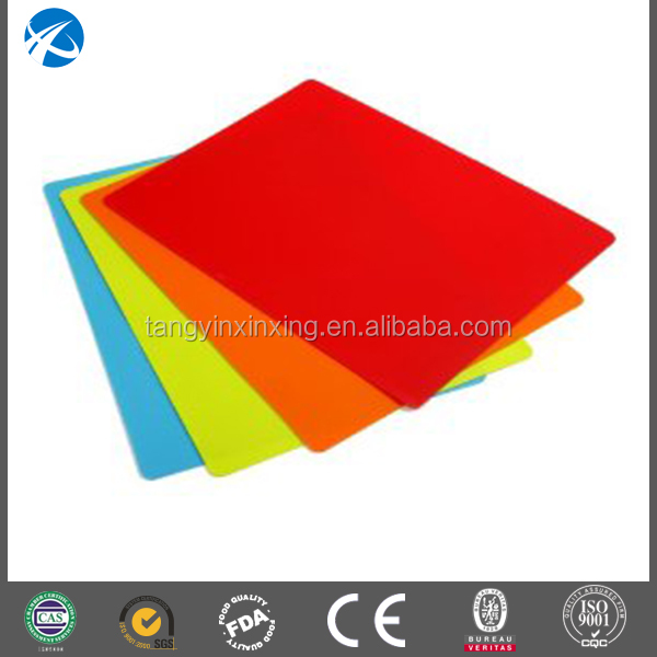 Environmental clean plastic colorful vegetable and fruit cutting mat