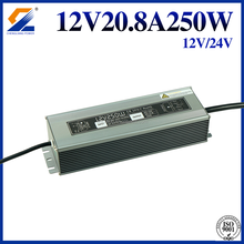 12V 20A 250W IP67 LED Waterproof Aluminum case Switching power supply with Single Output use in outdoor