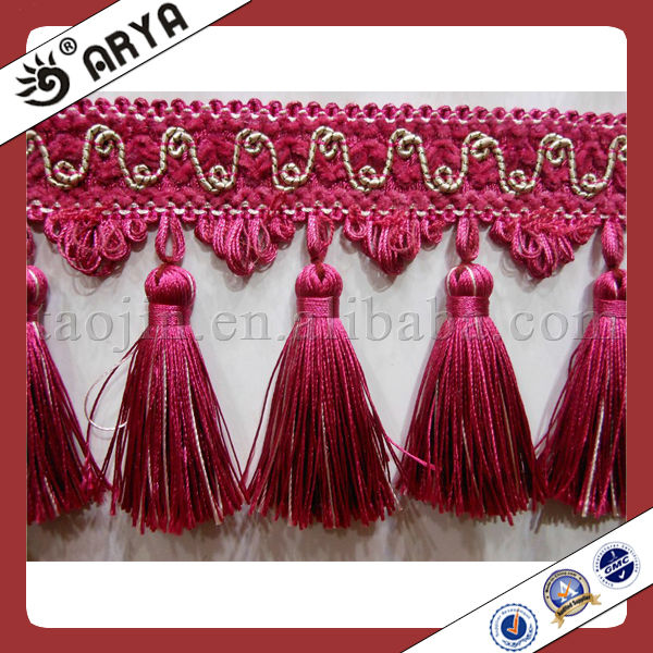 Acrylic Trimming Tassel Curtain Fringe used for cushions lamp curtain and accessories of home decoration