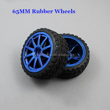 1:10 65MM Hexagonal Hole Rubber Wheel Tire For Robot Smart Car