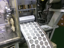 Cosmetic cotton pads machine in round shape
