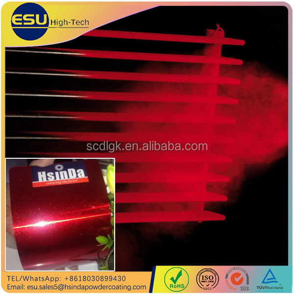 Handy spray paint red base shiny silver metallic powder coating for automotive paint supply