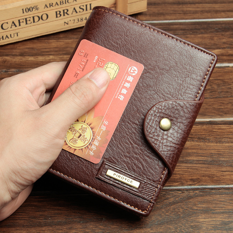 European leather Men's Passport wallet high-capacity multi-functional travel purse