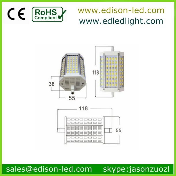 LED R7S Linear lamp Double ended R7S halogen replacement,j-type R7S bulb,10w LED lighting R7S