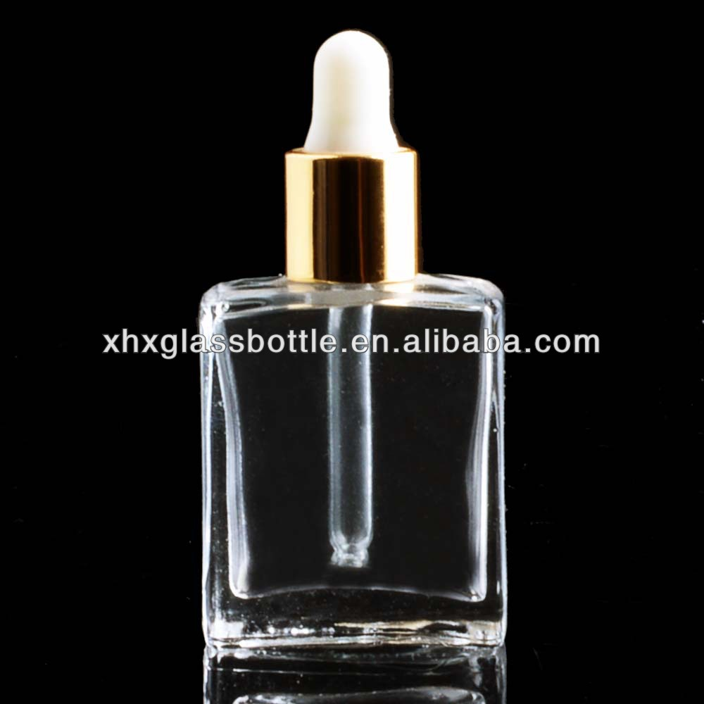 Mini Small 15Ml 10Ml Square Empty Glass Essential Oil Bottle With Rubber Dropper Wholesale